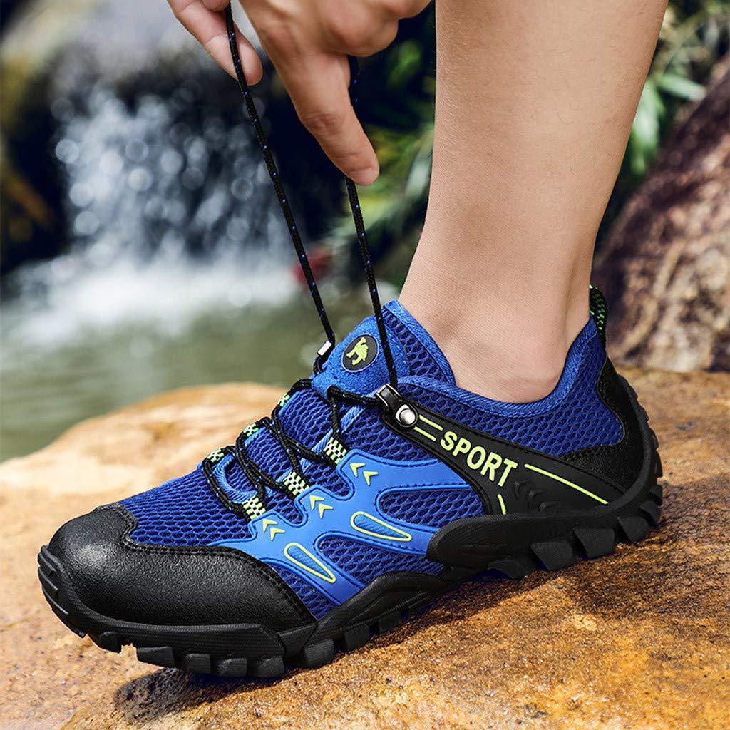 Hombres Senderismo Aire Libre y Deporte Zapatos de Campo Bajo Low-Top Antideslizantes Zapatillas de Senderismo Transpirables Calzado de Trabajo Seguridad