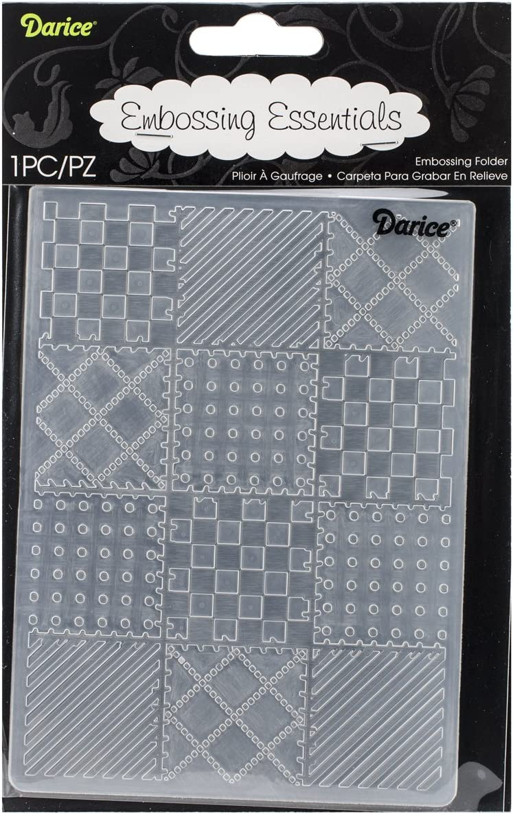 Darice Embossing Folders Quilt Folder 1219-131 baby sewing Cuttlebug Compatible