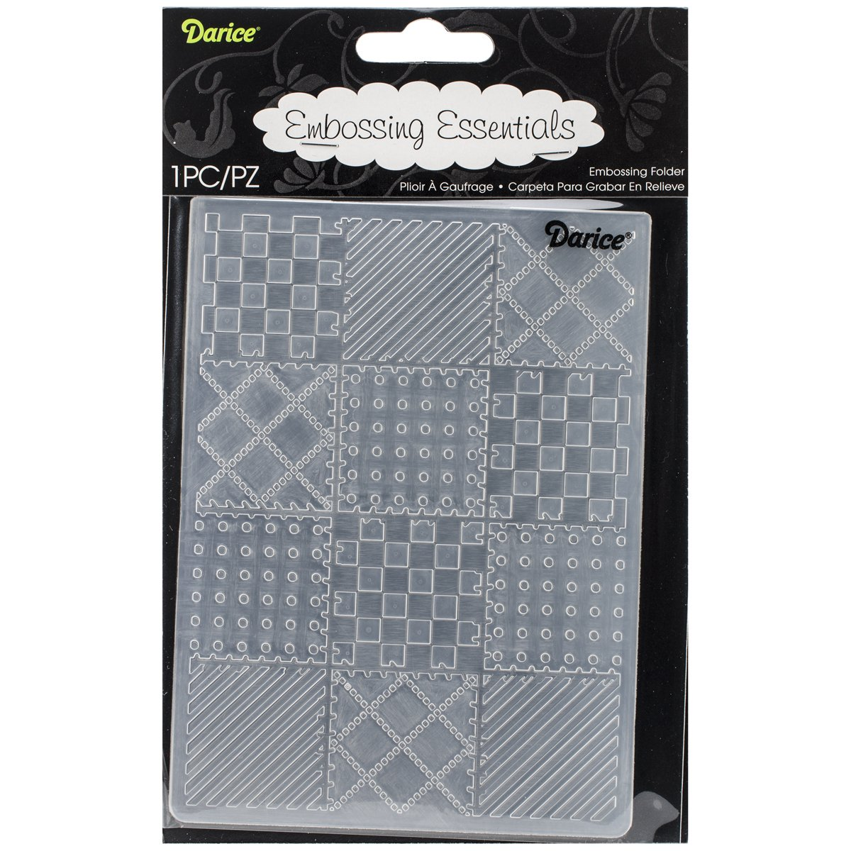 Darice Embossing Folder, 4.25 by 5.75-Inch, Quilt Blocks EB12-19131