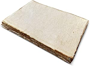 Handmade Antique Deckle Edge Blank Paper - A4 Size Package of 50 - Watercolor Mixed Media Loose Leaf Paper for Writers, Invitations, Crafts - Thick 130 GSM Recycled Paper - 8.25 x 11.7