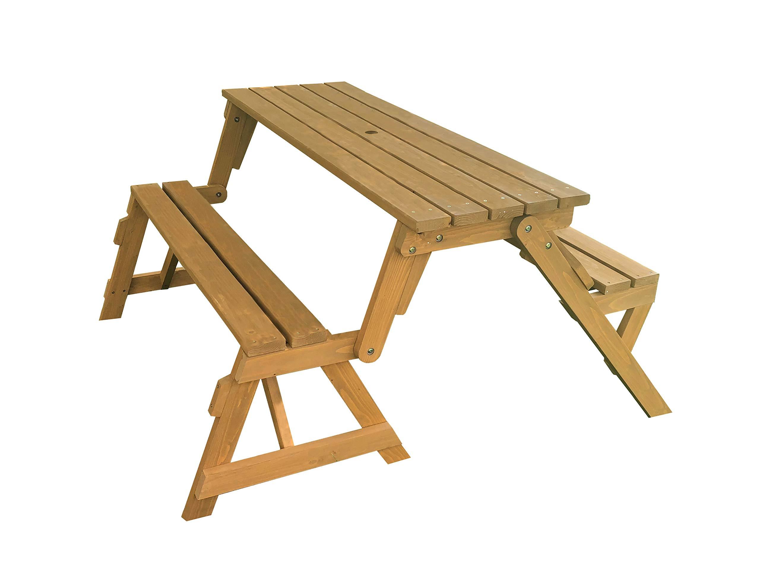 Tierra Garden 2-in-1 Convertible Junior Picnic Table/Bench by Tierra Garden (Image #1)