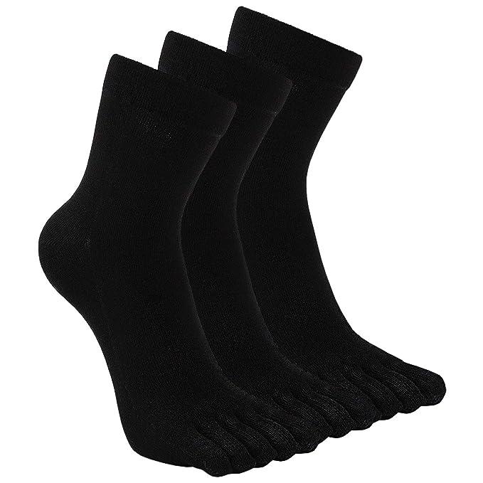 e43615ec3e674 Mens Toe Socks Five Finger Cotton Crew Sock Man Athletic Sports Running  Ankle Toe Socks