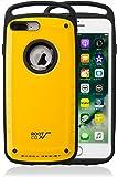 【ROOT CO.】iPhone8Plus iPhone7Plus 米軍MILスペック取得 耐衝撃 Gravity Shock Resist Case Pro. (イエロー/グロス) ワイヤレス充電対応
