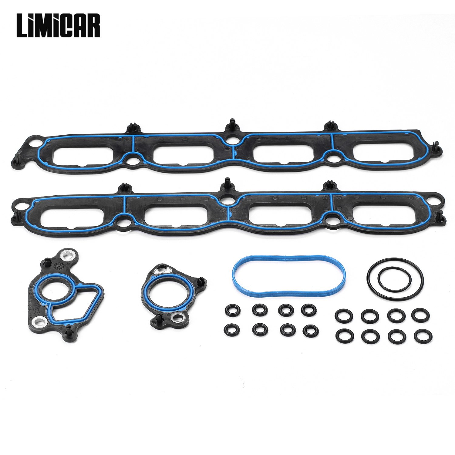 LIMICAR Intake Manifold Gasket Set For 2005-2012 Ford Expedition 2004-2010 Ford F-150 2006-2008 Lincoln Mark LT 2005-2012 Lincoln Navigator 5.4L SOHC Vin 5 V MS96696