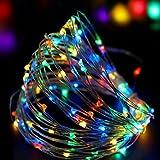 Weihnachtsbeleuchtung, Acelive 10M 100er IP65 Wasserdicht LED Kupferdraht Lichterkette für Innen außen Schlafzimmer Fenste Garten (Bunt)