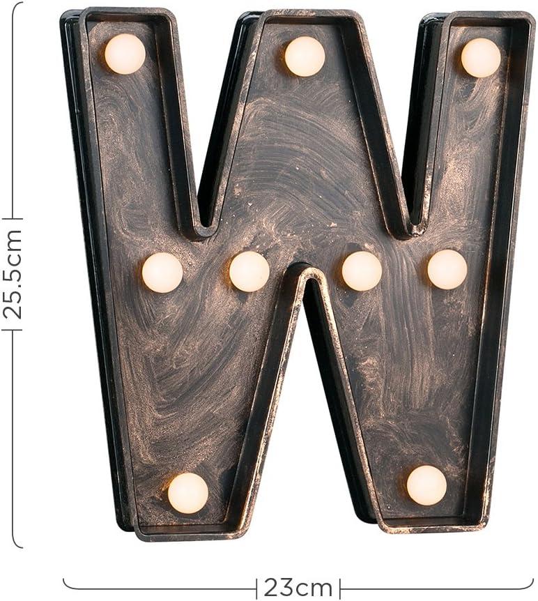 Decorative Vintage Style Brushed Bronze Effect Battery Operated LED Light Ampersand /& Symbol