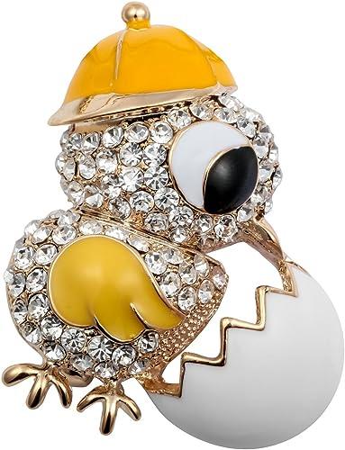 Rhinestone Enamel Carrot Brooch Lapel Collar Pin Women Jewelry Small Badges