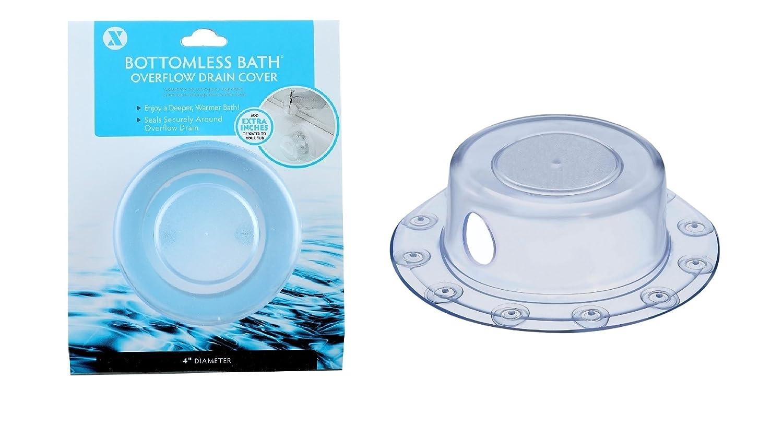 Amazon.com: SlipX Solutions Bottomless Bath Overflow Drain Cover ...