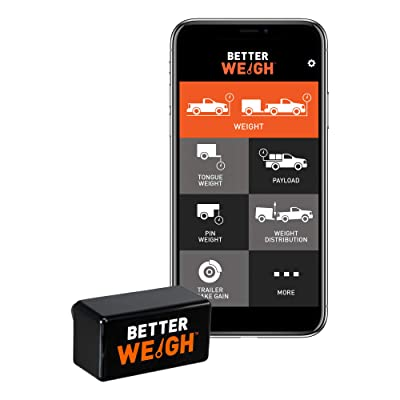 CURT 51701 BetterWeigh Mobile Towing Scale with TowSense Technology (OBD-II) Apple, Android Smartphones, Tongue, GCW, Weight Distribution: Automotive