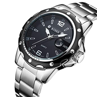 Uhren Manner Uhren Schwarz Edelstahl Armbanduhr Fur Manner Quarz