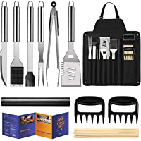 "Veken BBQ Grill Accessories, Grill Utensils Set, 16"" Stainless Steel BBQ Tools Set for Men & Women Grilling Accessories…"