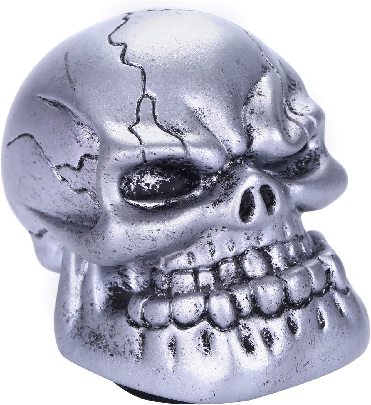 Metal Blue Bashineng Gear Stick Knob Skull Style Shift Head Universal Shifter Fit Most Manual Automatic Cars