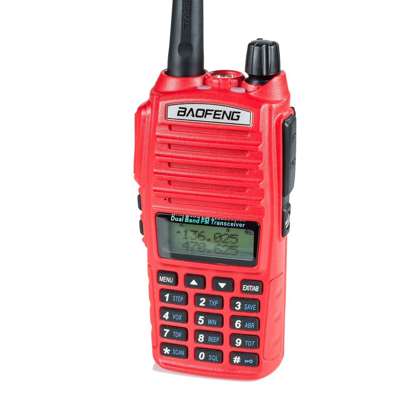 BaoFeng UV-82HP High Power Dual Band Radio: 136-174mhz (VHF) 400-520mhz (UHF) Amateur (Ham) Portable Two-Way/Red