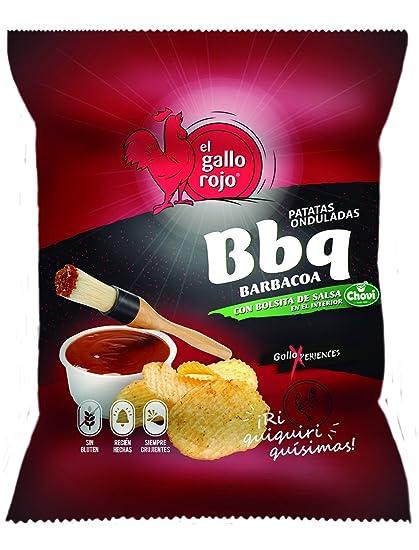 Patatas Con Salsa Barbacoa El Gallo Rojo 100G.