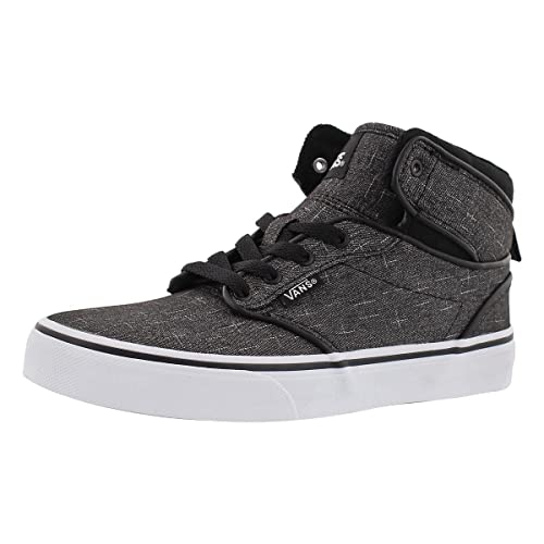 a275adc2ff Vans Boy s Atwood Hi (F16 Textile) Black White Skateboarding Shoes (US 10.5