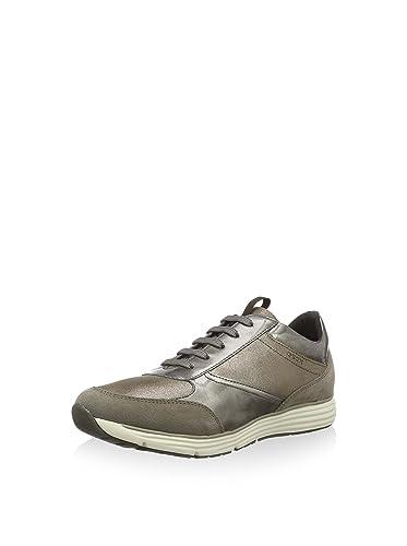 e19b8b9b7c08 Geox Damenschuhe Donna Dynamic D6405A Sportlicher Damenhalbschuh und  Sneaker (Taupe), EU 38