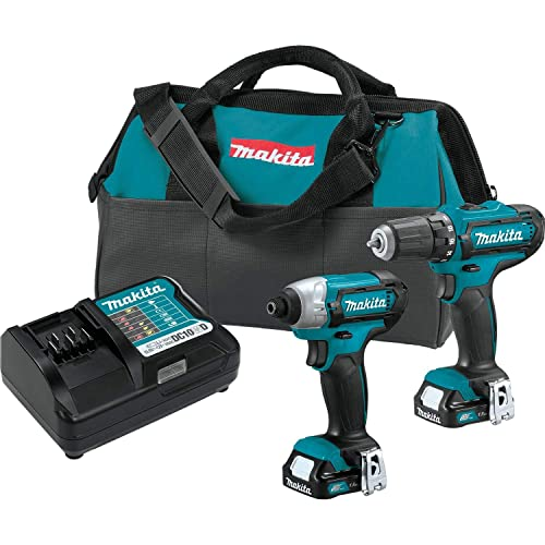 Makita CT226 12V Max CXT Lithium-Ion Cordless 2-Pc. Combo Kit 1.5Ah