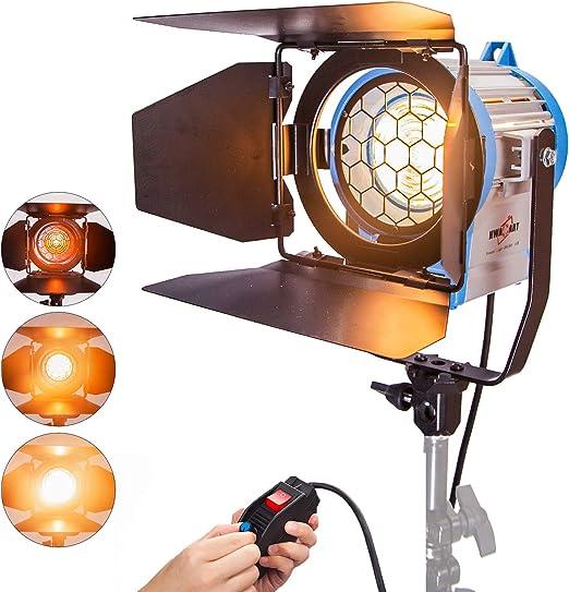 Fresnel 500W Tungstène Spotlight Projecteur Lumière Eclairage Mandarine  Vidéo avec Halogène Ampoule pour Caméra Film Photographie Studio:  Amazon.fr: Photo & Caméscopes