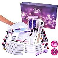 Ocibel - Kit Manucure Vernis Semi Permanent Lampe LED/UV avec 10 VSP + 26 accessoires - Manucure, Faux Ongles et Nail Art
