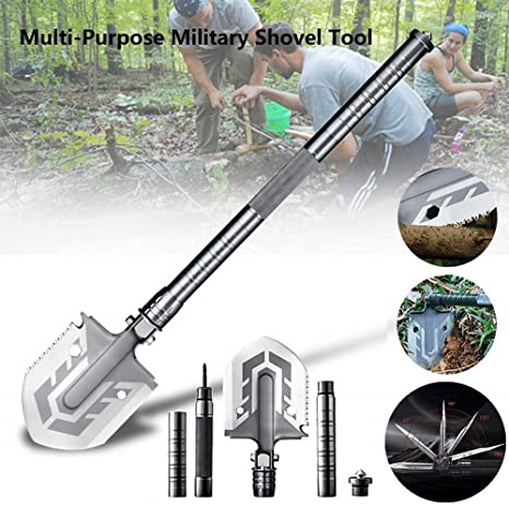 Multi-function Military Foldable Camping Shovel Outdoors Emergency Survival Kit
