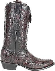 Genuine Ostrich Leg Cherry Round Toe Los Altos Mens Western Cowboy Boot 650518