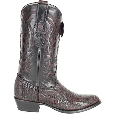 7c6d3bb0323 Genuine Ostrich Leg Cherry Round Toe Los Altos Men's Western Cowboy Boot  650518