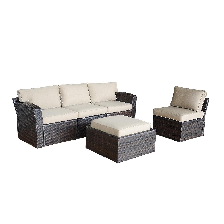 Amazon.com: APARESSE Juego de 5 piezas de muebles de jardín ...