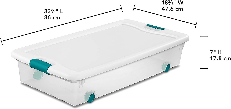 Quart 12 Piece White White 12 Piece /& 6 Qt.//5.7 L Latching Boxes Clears 6 Quart Sterilite 15 Qt.//14 L Latching Box Clears