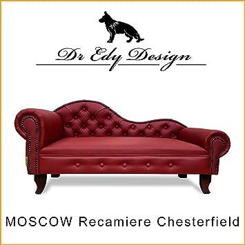 Dr EDY Diseño Perros sofá Chesterfield - Sofá Moscow XXL rojo cama para perros Dog Bed: Amazon.es: Productos para mascotas