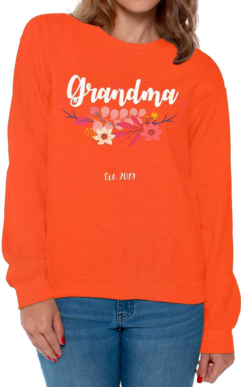 Awkward Styles Grandma 2019 Sweaters for Women Grandma Clothes Pregnancy Reveal Crewneck