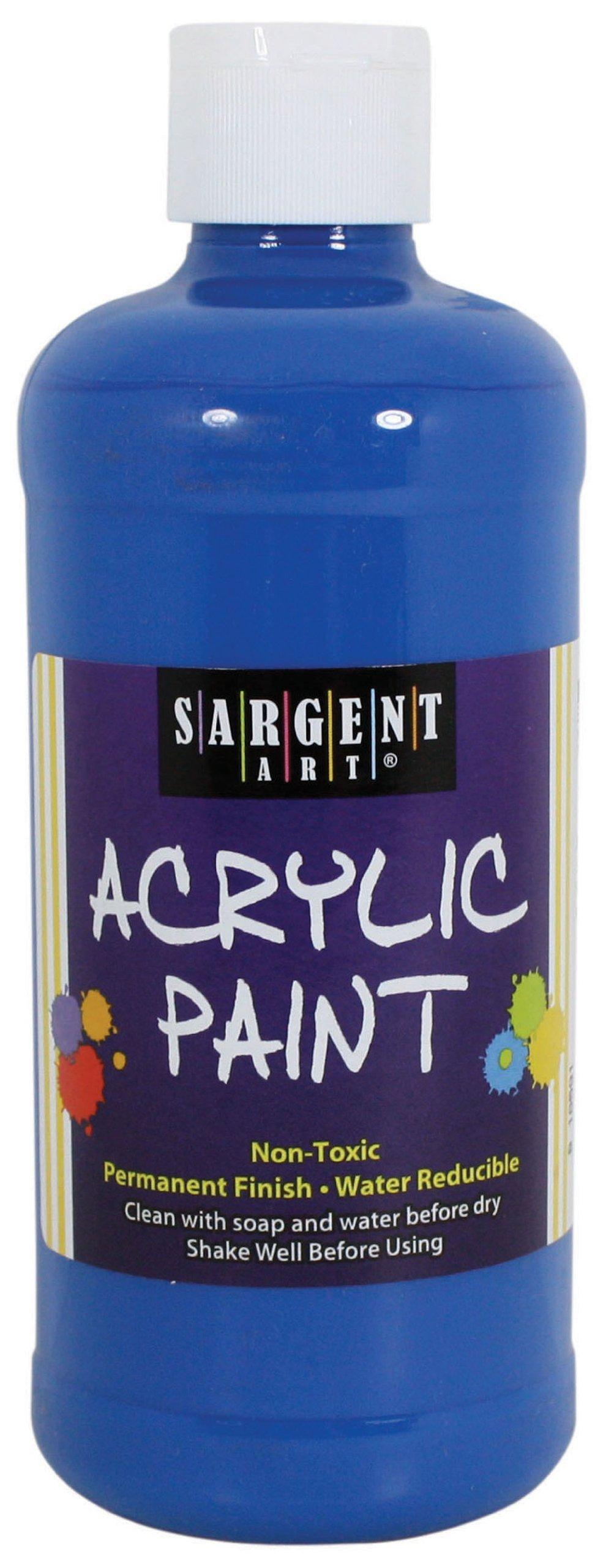 Sargent Art 24-2455 16-Ounce Acrylic Paint, Phthalo Blue