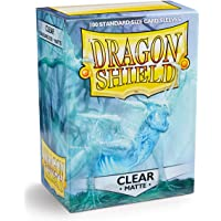 Dragon Shield Matte Clear 100 Deck Protective Sleeves in Box Standard Size for Magic he Gathering (66x91mm)