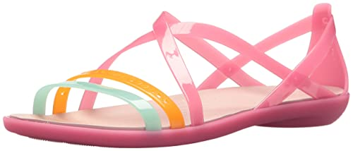 f20cb6b645ce Image Unavailable. Image not available for. Colour  Crocs Isabella Cut  Strappy Sandal Womens  ...