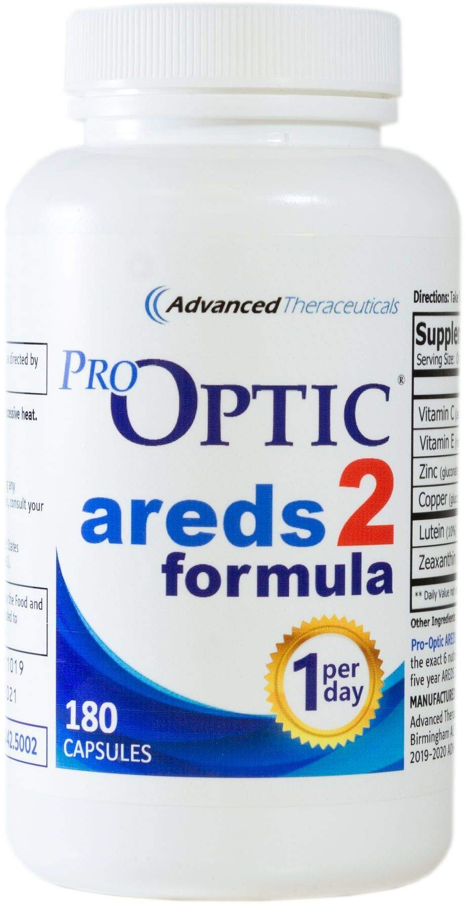 Pro-Optic AREDS2 Formula (6 Month Supply) 180 Count / 1-Per-Day + Free Shipping by Pro-Optic (Image #1)