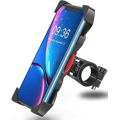 """Bovon Soporte Movil Bicicleta, Anti Vibración Soporte Movil Bici Montaña con 360° Rotación para Moto Cochecito, Universal Manillar para iPhone 11 Pro Max/11 Pro/11/X/8, Samsung y 3.5""""-6.5"""" Smartphones"""