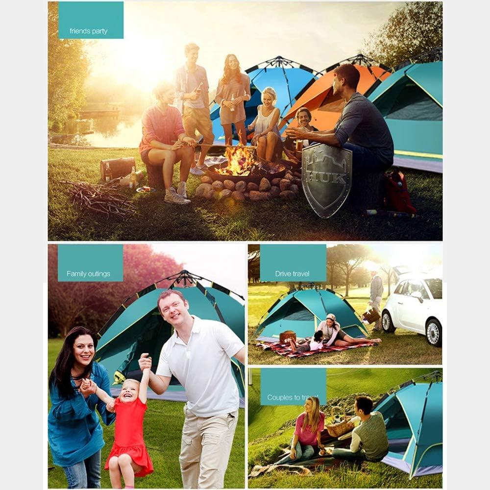 WANG2018 Tienda, Tiendas de Campaña del Festival con Tecnología de Dormitorio Blackout, Elementos Esenciales para Las Vacaciones, Toldo Tipo Cúpula, 100% Impermeable,Blue Armygreen