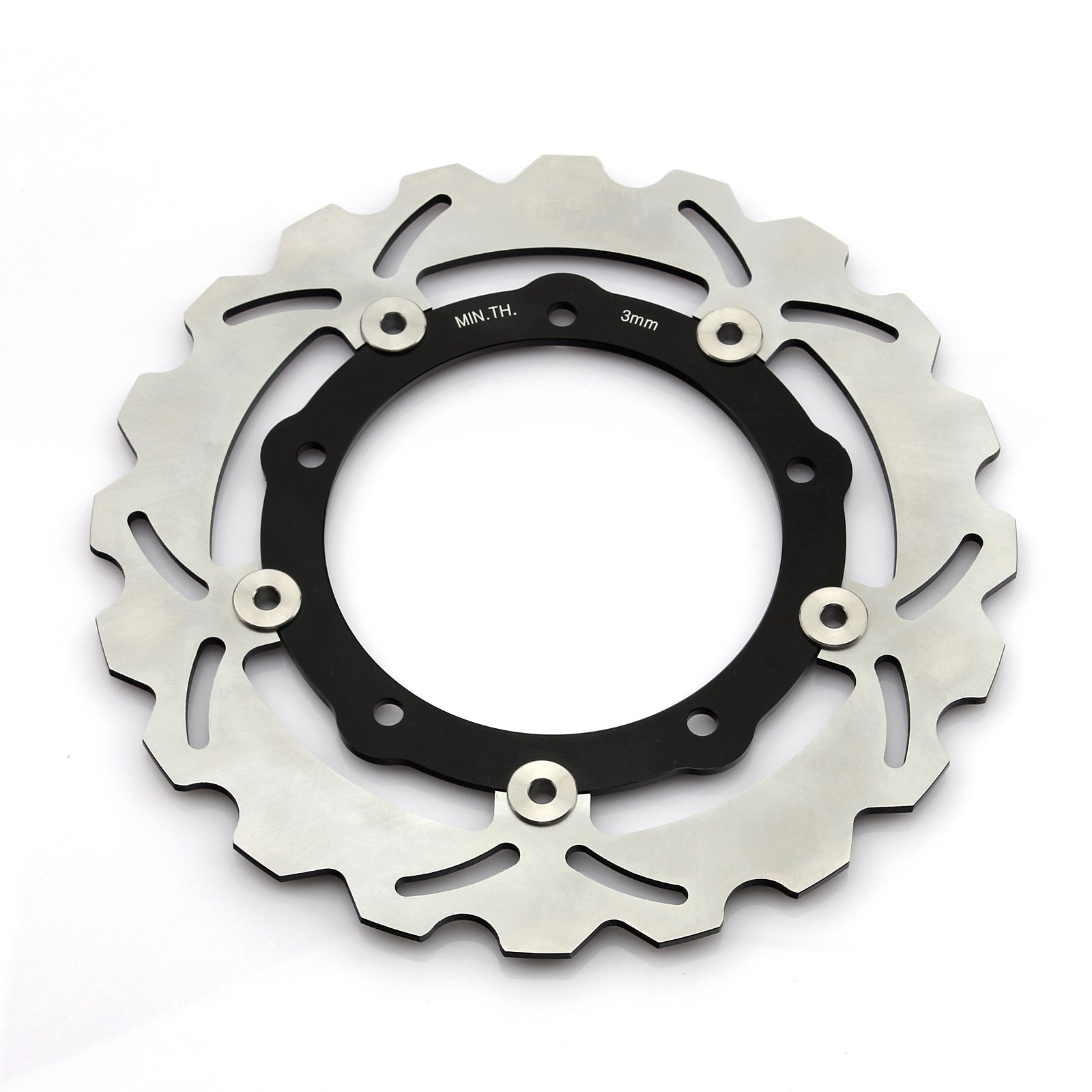 1 Pair Front Brake Rotors for Yamaha T-Max XP 530 2012 2013 2014 2015 YP125R YP250 ABS Sport by TARAZON (Image #3)