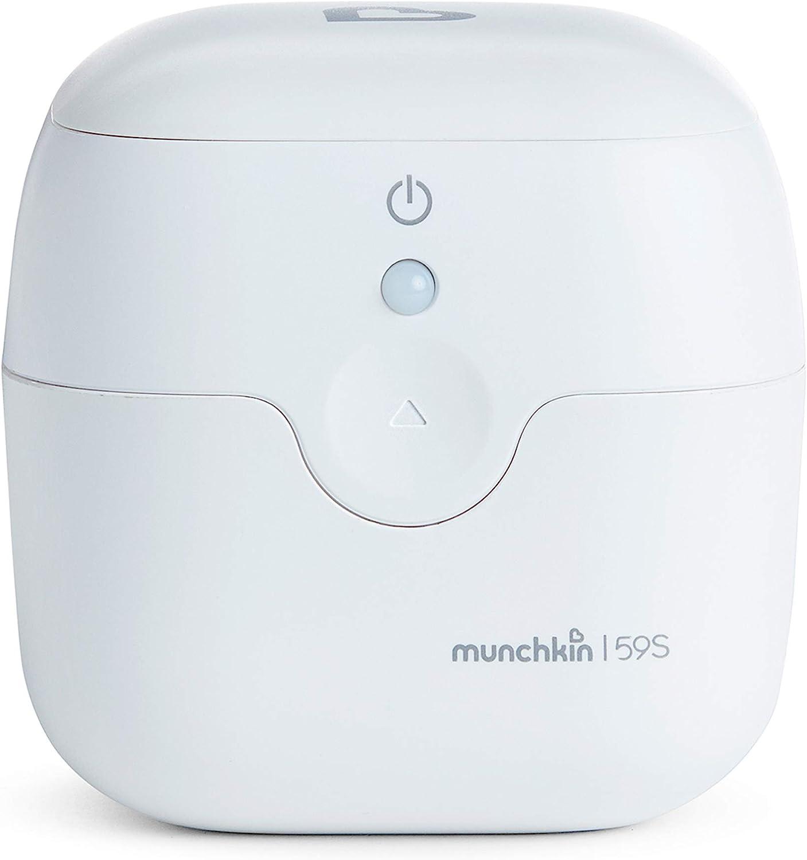 Munchkin - Mini-Esterilizador Portátil de UV Desinfectante, mata más del 99% de bacterias y virus en 59 segundos