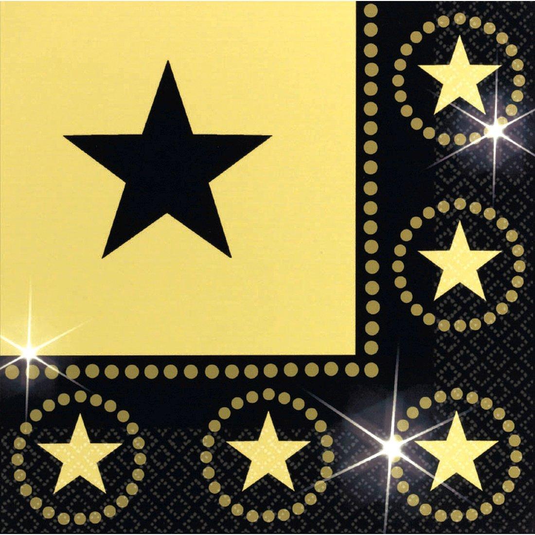 16 servilletas con la estrella de Hollywood decoración papel ...