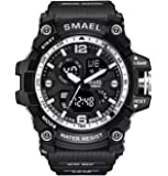 Smael Analogue Digtal Dual Quartz Movement Military Design Water Resistant Sports Men's Watch -1617