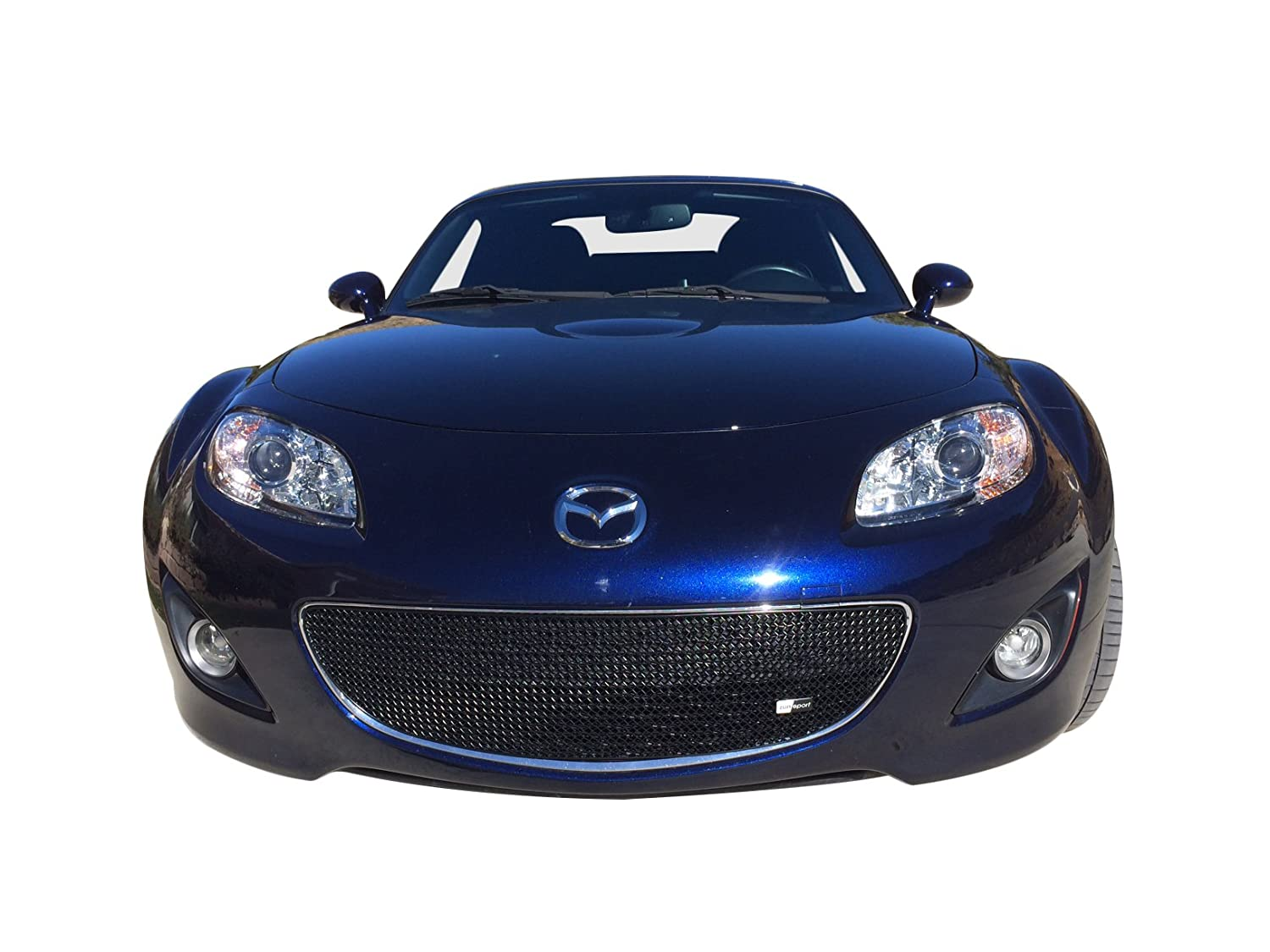 Without Number Plate Zunsport Compatible with Front Lower Grille 2009 to 2012 - Black Finish