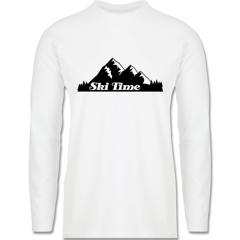 Wintersport - Ski Time - Longsleeve / langärmeliges T-Shirt für Herren