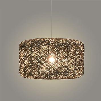 AEXU Exquisito Lámparas de Techo de Color Rattan Art Woven ...