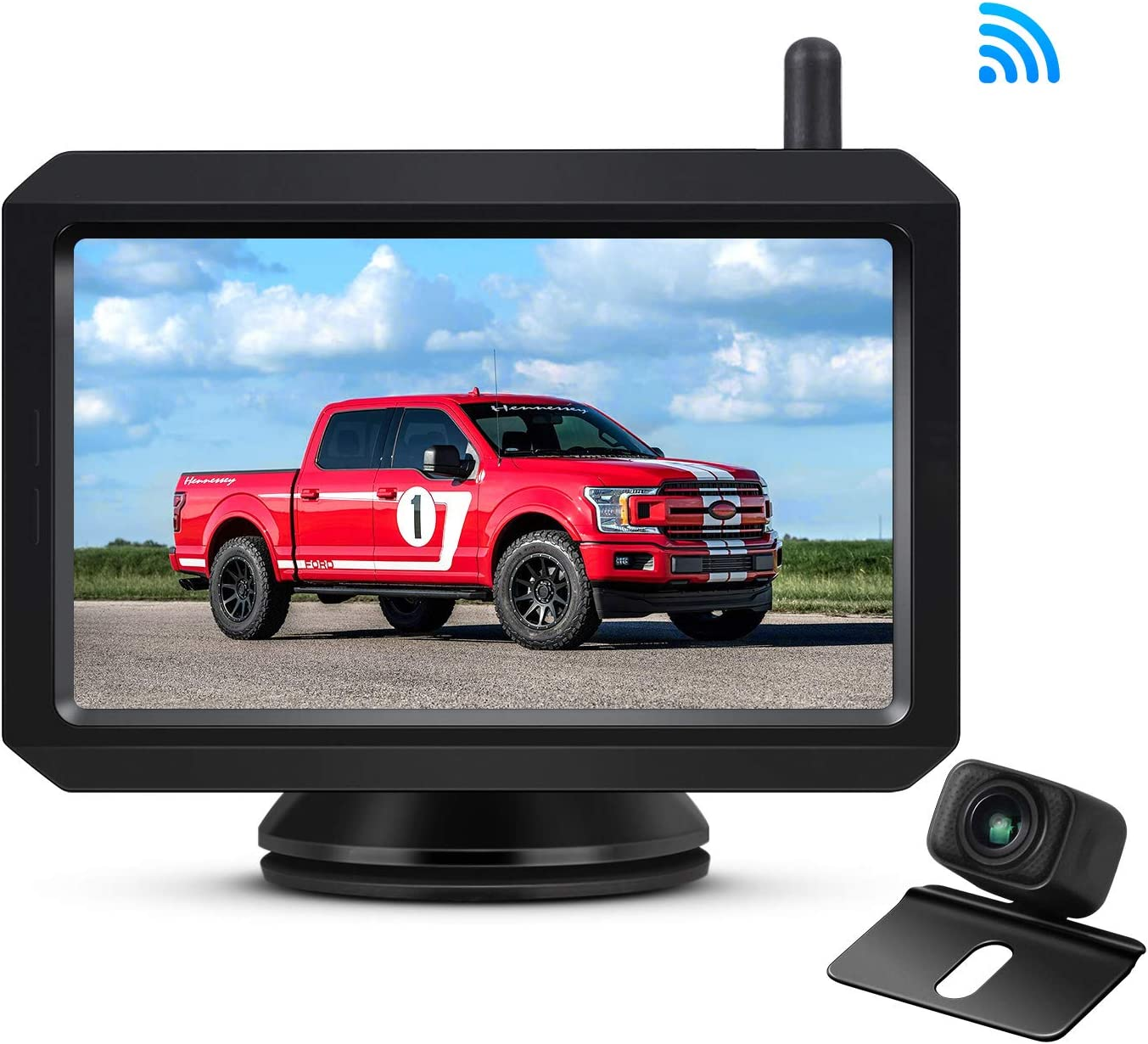 AUTO-VOX W7 Wireless Backup Camera Kit, 5 Inch Monitor with Stable Digital Signal Transmission from Rear View Camera. Suitable for Truck, Van, SUV, Camping Car
