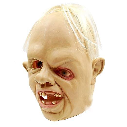 QIYUE Máscara De Halloween Creepy Cheese Cabra Slash Head Mask ...
