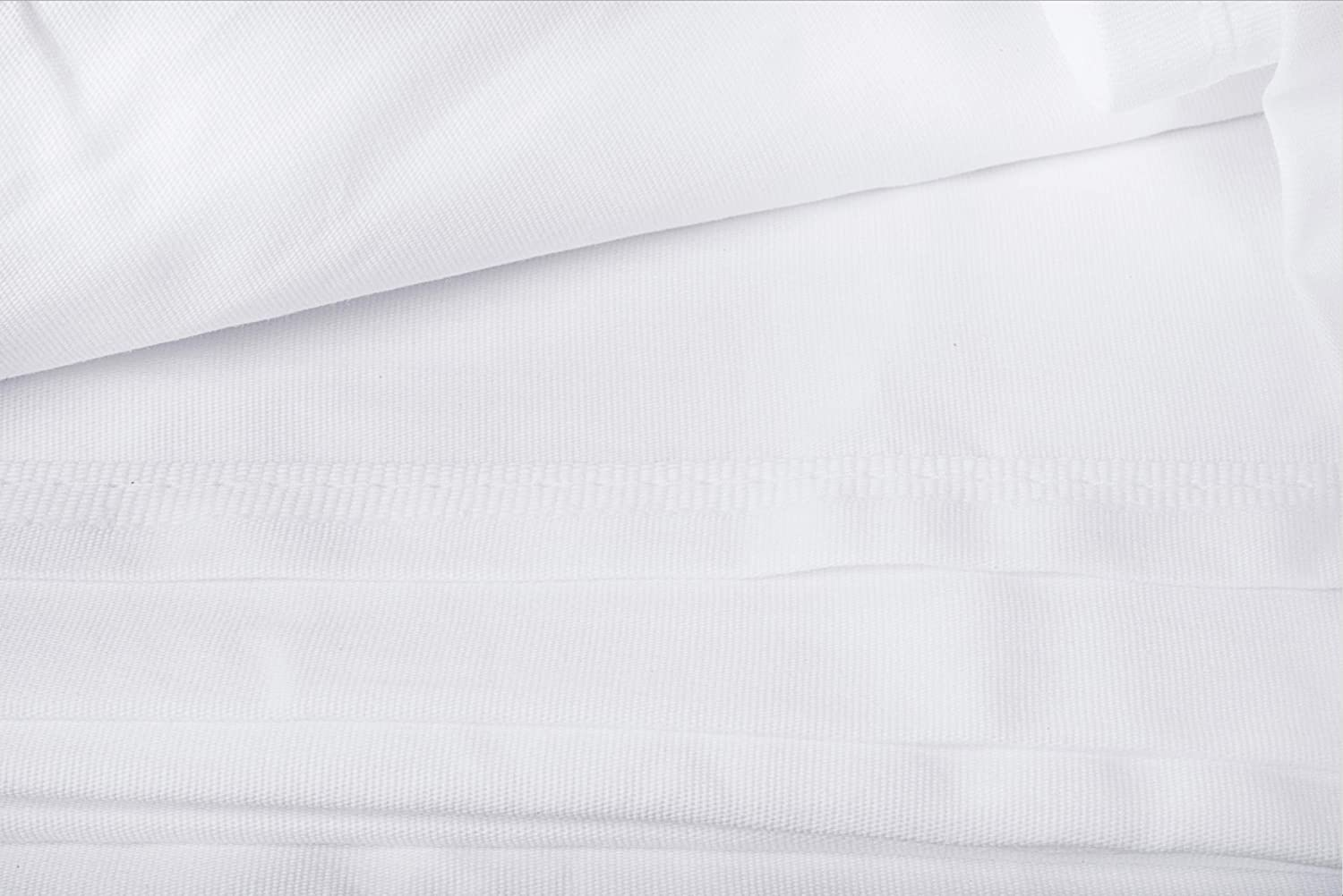 1-Pack, 66x104 in, White Twin Flat Sheets Linteum Textile 200 Thread Count