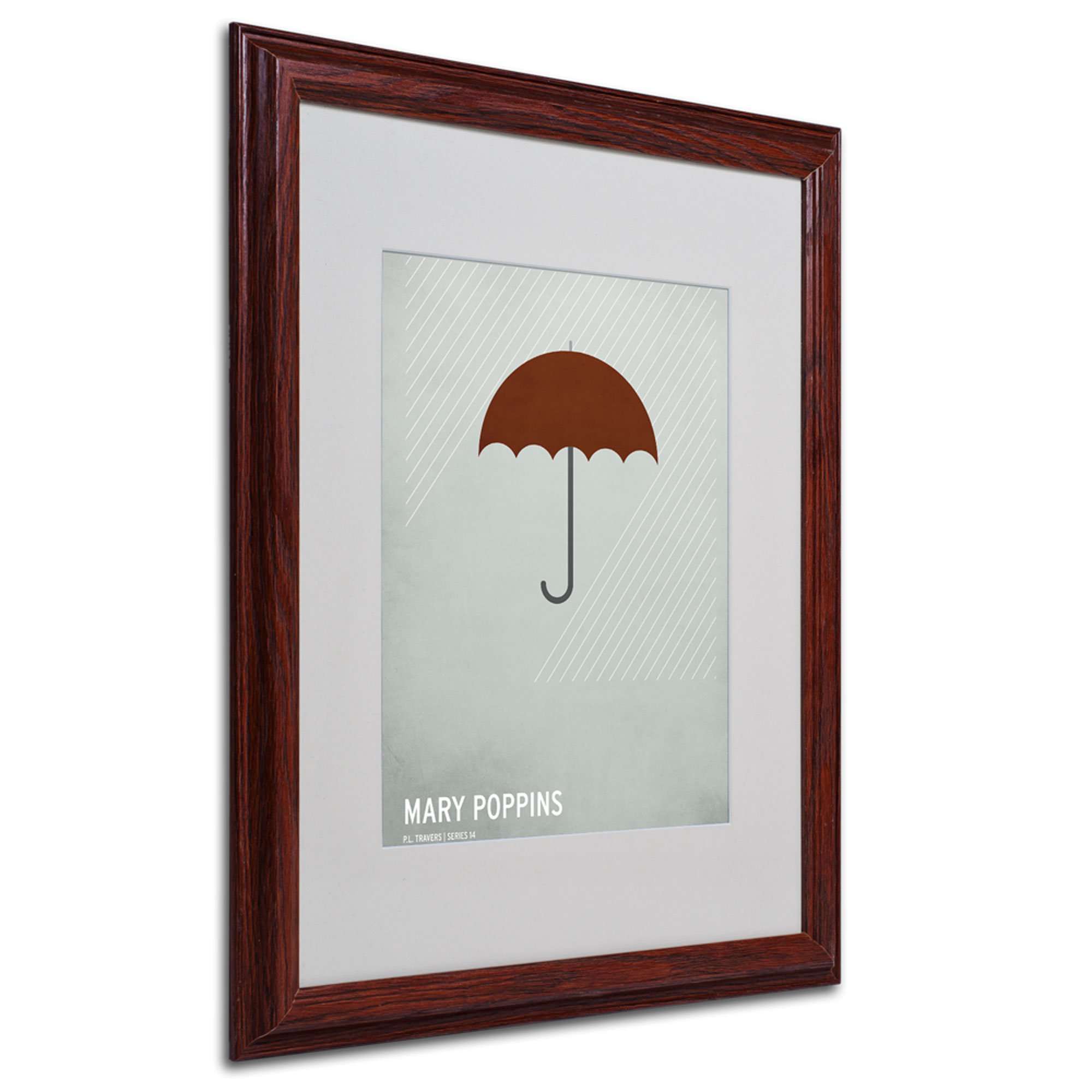 Marry Poppins Artwork by Christian Jackson in Wood Frame, 16 by 20-Inch