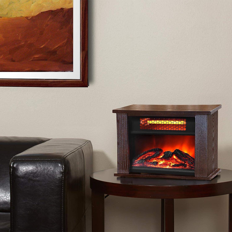 Marvelous Amazon.com: LifePro Lifesmart 750 Watt Infrared Quartz Mini Wood Fireplace  Space Heater: Home U0026 Kitchen
