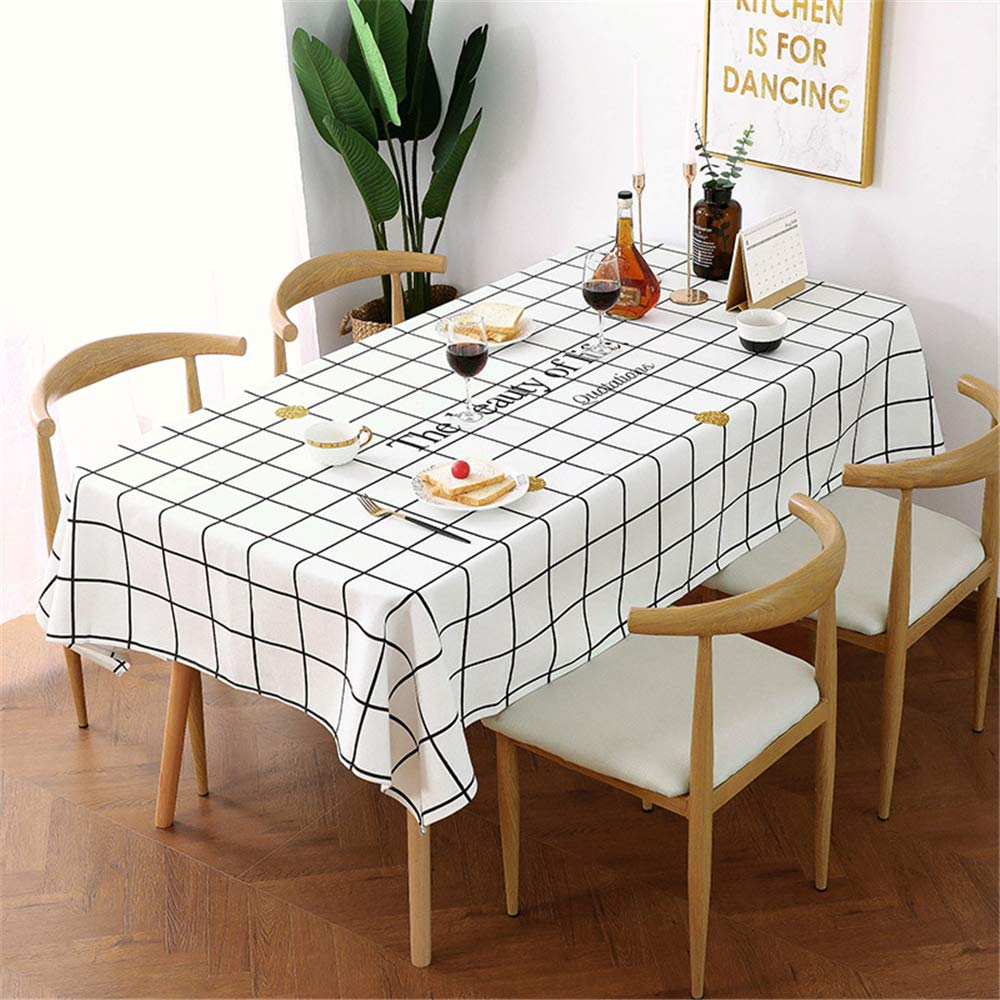 Cotton Linen Tablecloth Waterproof Table Cloth Coffee Table Cloth Simple Style by ZHIZHEN