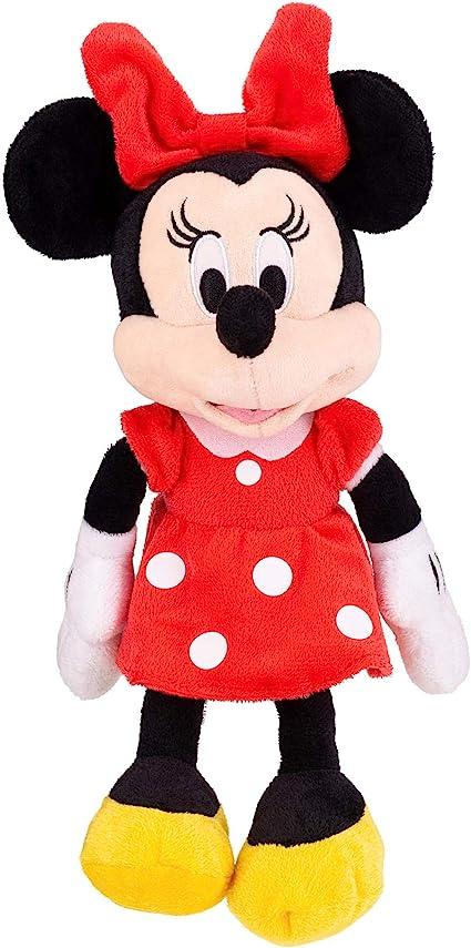 "Minnie Mouse Red Dress 11/"" Plush Doll /& Charm Bracelet 2-Piece Set"